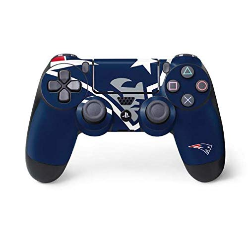 - Skinit New England Patriots Large Logo PS4 Controller Skin - Officially Licensed NFL PS4 Decal - Ultra Thin, Lightweight Vinyl Decal Protective Wrap
