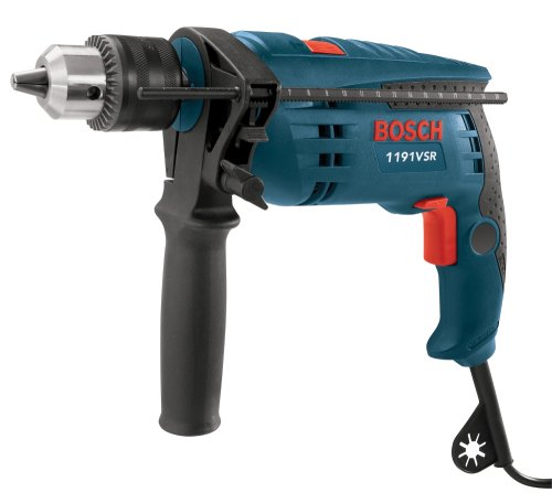 Bosch 1191VSRK 120-Volt 1/2-Inch Single-Speed Hammer Drill (Single Speed Impact Drill)