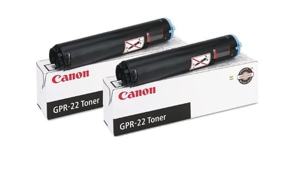 Amazon.com: Genuine Canon GPR-22 (0386B003AA) Black Toner Cartridge 2-Pack: Office Products