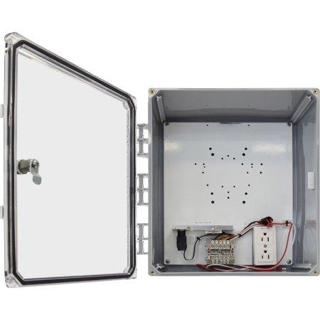Ventev / TerraWave - 14x12x6 Heat Enclosure. Clear Door/Key Lock
