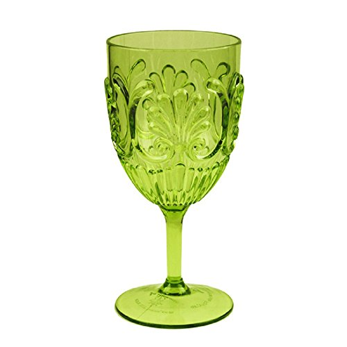 Le Cadeaux Fleur 15 oz Wine Glass, Light Green ()