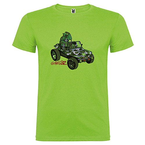 Corta shirt Verde Geep Gorillaz Bikerella T By color Oasis Manica Unisex q5WtR