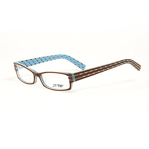 3992db9a823 J.F. REY Rectangular Eyeglass Frames 54mm Brown Sky Blue