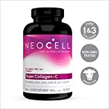 NeoCell Super Collagen with Vitamin C, 250 Collagen Pills, #1 Collagen Tablet Brand, Non-GMO, Grass Fed, Gluten Free, Collagen Peptides Types 1 & 3 for Hair, Skin, Nails & Joints