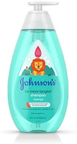 Johnson's No More Tangles Tear Free Toddler & Kids Detangling Shampoo, Paraben Free, 20.3 fl. oz