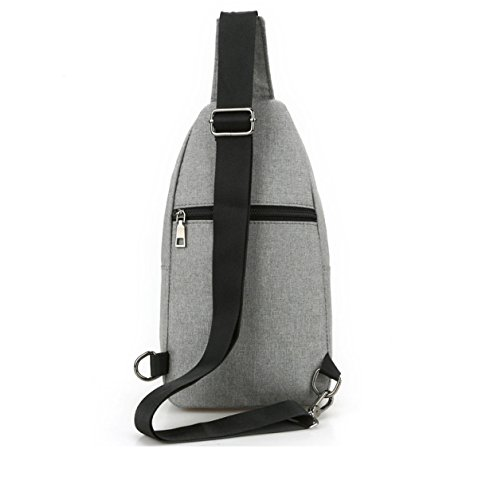 Yueer Trend Casual Bag Shoulder Gray Woman Messenger Canvas Bust Outdoor Men Bag Gray 8rwRqZ8x