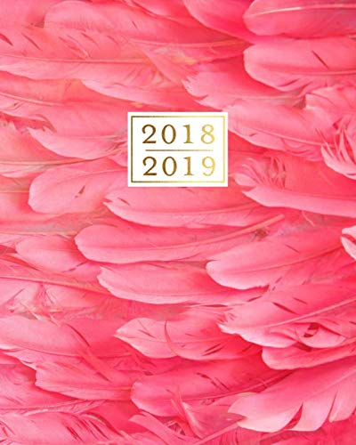 (2018 - 2019 Weekly Planner: Pink Flamingo Feathers 16 Month Agenda Book, Sept 2018 - Dec 2019)