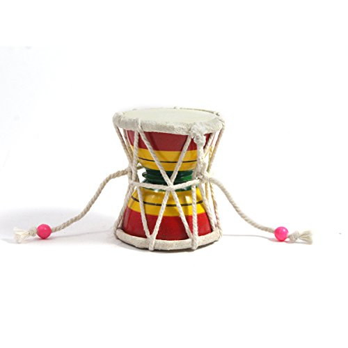 100% Pure Indian Handmade Playing Musical Instruments Damroo or Decorative Showpiece Gift