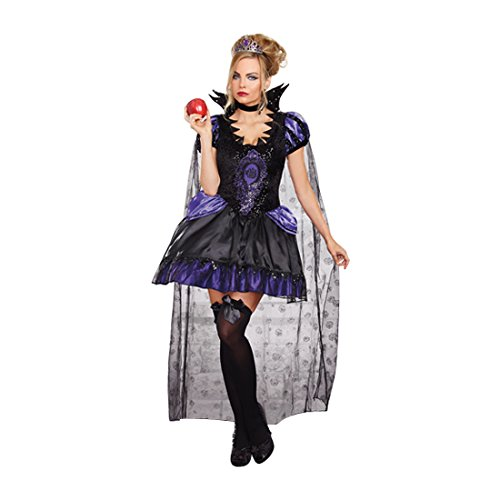Dreamgirl Women's Evil Queen Costume, Black/Purple, Small