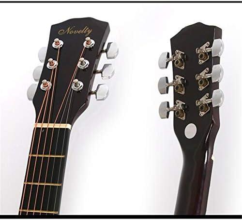 アコースティックギター 栃木フォークアコースティックギター練習初心者エントリギターインストゥルメントの選択 小学生 大人用 ギター初級 (色 : Blue, Size : 38 inches)