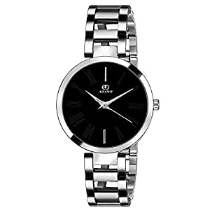 ADAMO Analogue Unisex Watch (Black Dial )