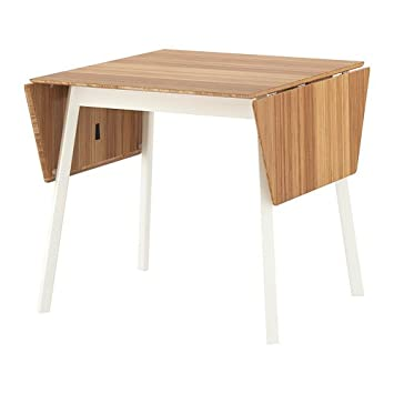 Terrific Amazon Com Ikea Drop Leaf Table Bamboo White 626 22026 Bralicious Painted Fabric Chair Ideas Braliciousco