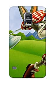 New Fashionable Spanishlogy PYWxdtz6869UrSRB Cover Case Specially Made For Galaxy S5(bug Bunny)