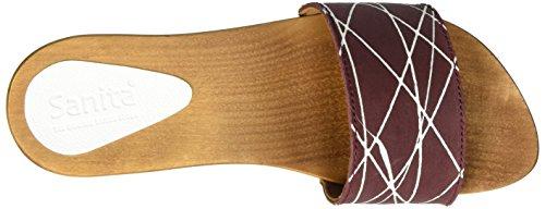 Arense Bordeaux Mujer Mules Multicolor Sandal Sanita zqPwFU4F