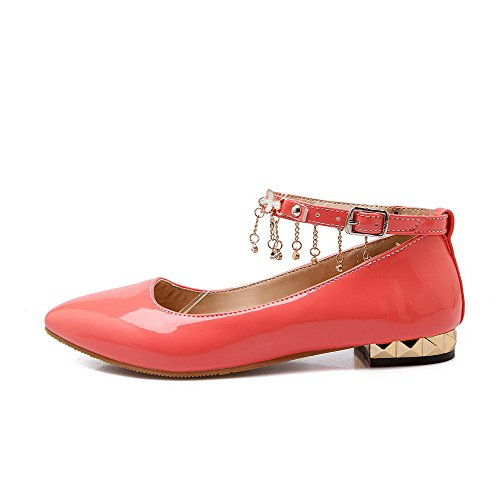 Pumput Pu Suljetun Voguezone009 Huomautti Kiinteä Solki Toe Selin Watermelonred Alhaisen Naisten kengät Uxwa0z