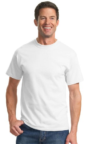 - Port & Company - Essential T-Shirt. - White - 6XL