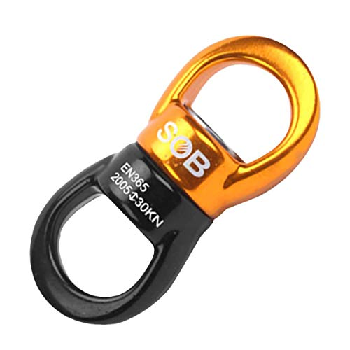 2TRIDENTS Climbing Swivel Hook Ring Rotary Connector for Arborist, Rescue, Rock Climbing, Set-up of Swing, Hammock, Dog Leash Connector and More