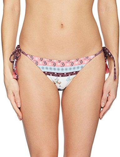 6d29627c3cec Agua Bendita Women's Alegria Mist Bikini Bottom, Floral Patchwork, M