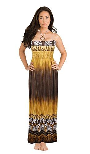 Brown Halter Dress - 6