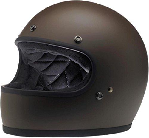 (Biltwell Unisex-Adult Full-Face-Helmet-Style Flat Gringo DOT Certified Full-Face Helmet (Chocolate, XX-Large))