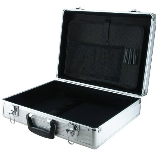 Aluminum Hard Carry Case (SRA Cases EN-AC-BY-13450C Aluminum Laptop and Test Equipment Silver Hard Case, 17.7 x 13.3 x 6.1 Inches)
