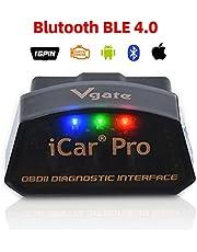 vgate iCar Pro OBD2 Bluetooth 4.0 (BLE) diagnoseapparaat auto automotive motor foutcode-lezer ELM 327 V 2.2 voor Android/iOS-systeem, compatibel met App Torque, OBD Car Doctor
