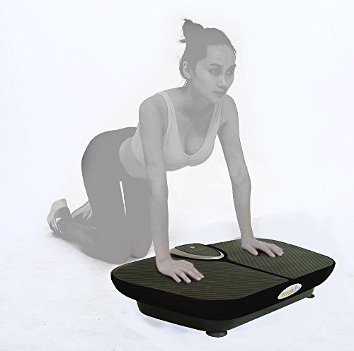 Clevr Upgraded Mini Crazy Fit Black Crazy Fit Whole Full Body Shape Exercise Machine,Vibration Plate,Fit Massage Workout Trainer, Max User Weight 330lbs, Upgrade 180 speed levels, Red/Black/Pink