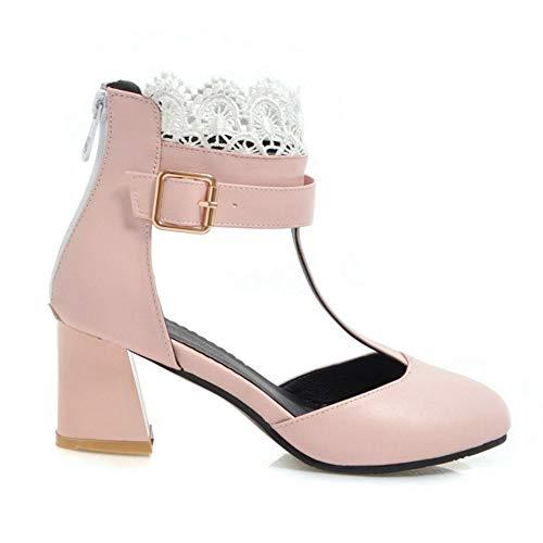 Rose Sandals Femmes Bride Zanpa Cheville Chaussures Mode D'été 06dxxqOT