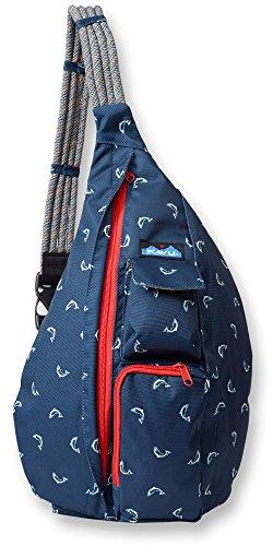 KAVU Rope Sling Backpack Fly Fish Zipper Women Shoulder Bag