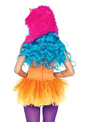 Leg Avenue Women's 2 Piece Shaggy Shelly Tutu Dress And Furry One Eyed Monster Hood
