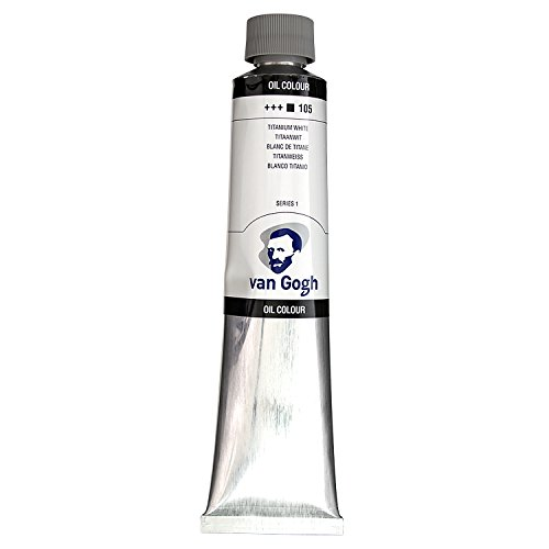 Royal Talens Van Gogh Artists' Oil Color, 200ml Tube, Titanium White (02081053)