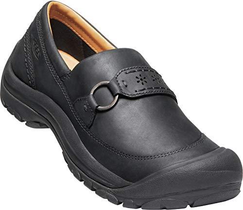 KEEN - Women's Kaci II Slip-On Casual Leather Shoe for Everyday Wear, Black/Black, 12 M US
