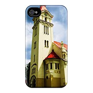 Iphone Case - Tpu Case Protective For Iphone 4/4s- Europe Church Architecture Wallpaper