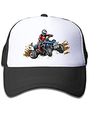 Pink Mesh Baseball Cap Adjustable Toddler Hat Just Ride Off-Road Quad Unisex