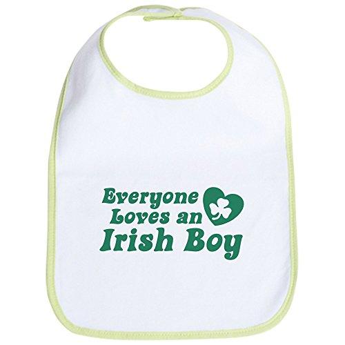 CafePress - Everyone loves an Irish Boy Bib - Cute Cloth Baby Bib, Toddler ()