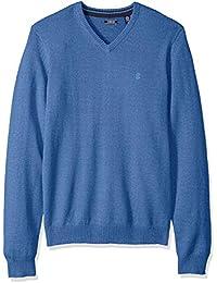 Men's Long Sleeve Soft Fine Gauge Solid V-Neck Sweater
