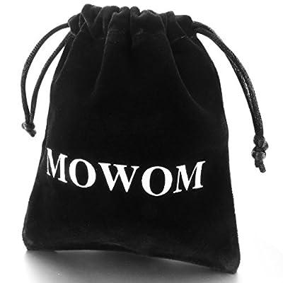 MOWOM Alloy Genuine Leather Bracelet Bangle Cuff Rope Bead 3 Wrap Adjustable