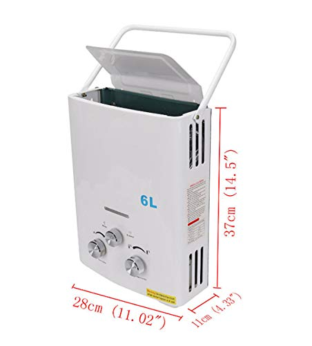 Instant Tankless Hot Water Heater Boiler + Shower Head LPG Gas 12KW 6L