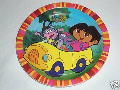 DORA PARTY LUNCH SIZE PLATES PKG OF 8