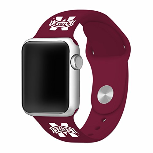 Mississippi State Bulldogs 38mm Maroon Sport Band fits Apple Watch - BAND ONLY (Watch Bulldogs Sport)