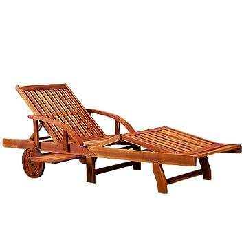 U0026quot;Tamiu0026quot; Garden Sun Lounger Bed Chair Wooden Folding Recliner  Relaxer Steamer Drink Tray Part 56