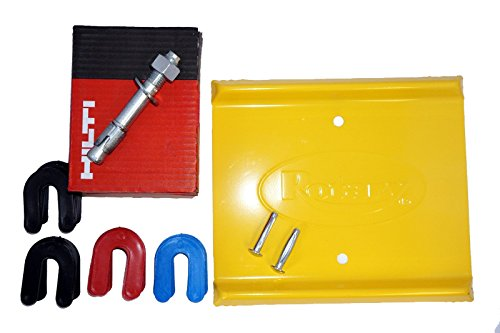 - Auto - Car Lift Installation Kit With Anchor Bolts, Shims, and Spotting Dish