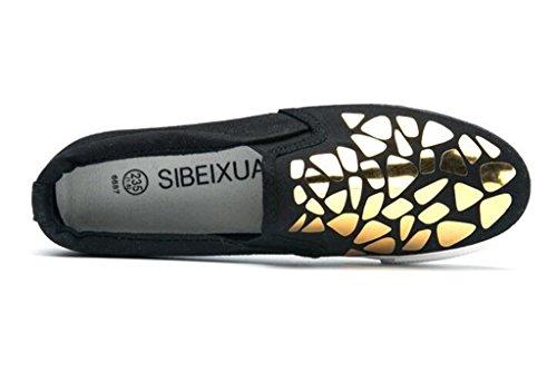Casual Confortevole Movimento 39 L'aumento Studenti Bianco Scarpe Blackgold Lady 37 Silver Pu Tempo Libero Xie Nero Interno Shoes 0CxwT8XTqB