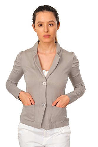 Kangra Cardigan Femme Gris Taille normale laine vierge Casual 42