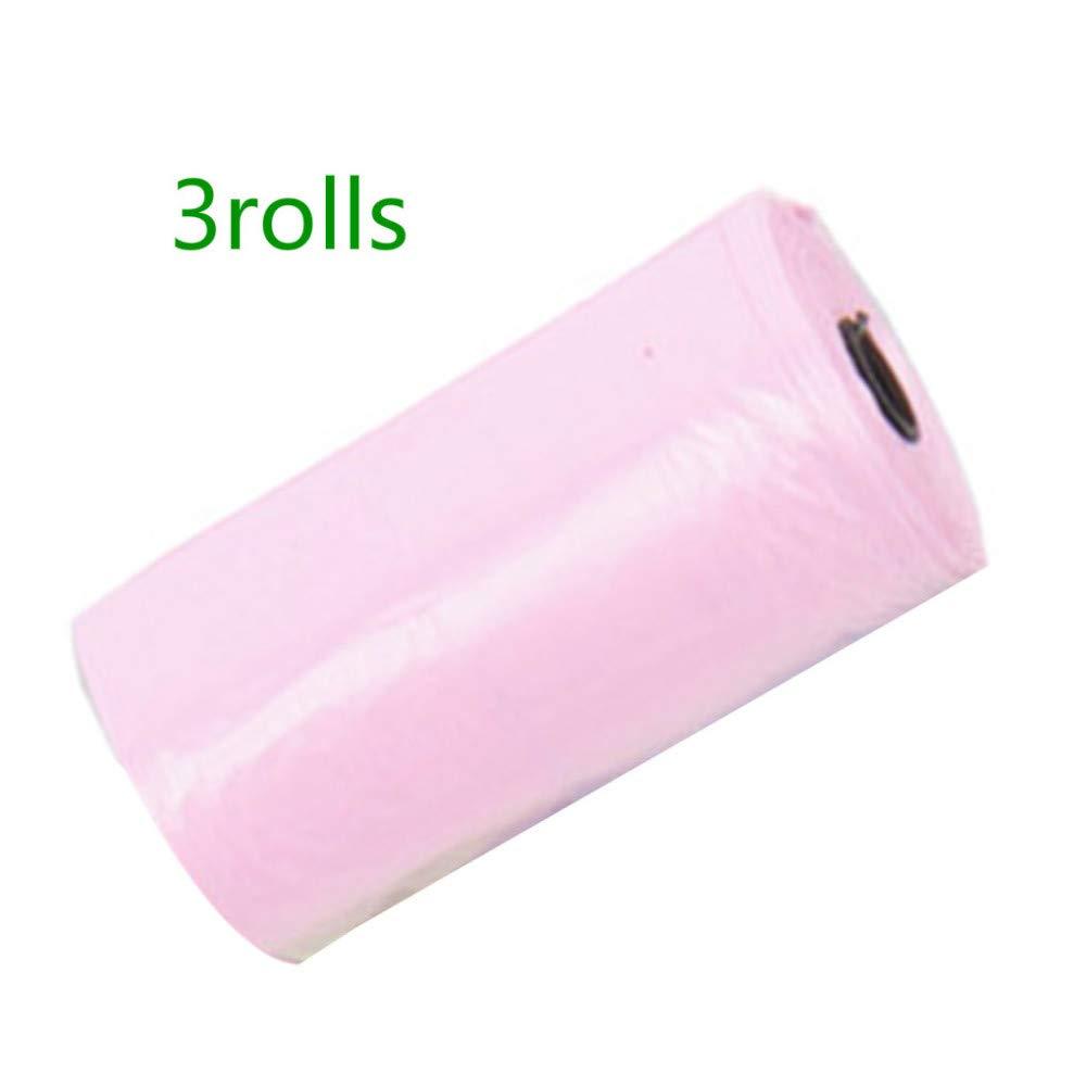Abandon - Bolsa de plástico para llevar al bebé con diseño de dibujos animados, 3 rolls, Color aleatorio.