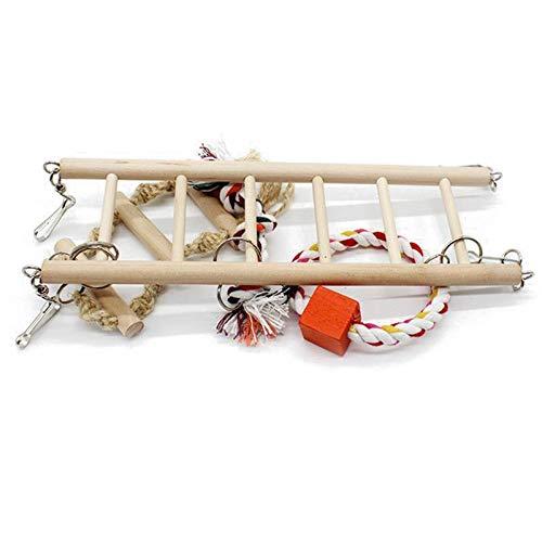 - 1pc Parrot Toys Climbing Net Hanging Ladder Bridge Macaw Cage Chew Decoration Bird Pet - Bird Toys