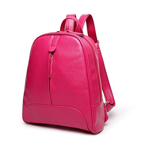 OASD - Mochila piel sintética de estilo informal para mujer  , marrón (marrón) - G72096E rosa (b)