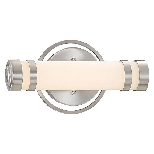 Good Lumens By Madison Avenue Brushed Nickel LED Bath Vanity Light