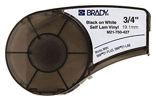 BRADY M21-750-427 M21 Series B427 Black on White 19.05 mm x 4.27 m Labels-for BMP21 - 1/Cartridge - 1 item(s) from Brady