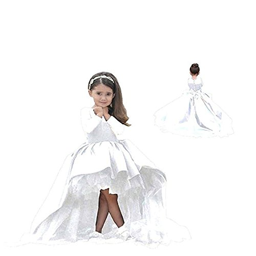 (Helen Hi-lo Flower Girls Dresses for Weddings Pageant Toddler Gowns)